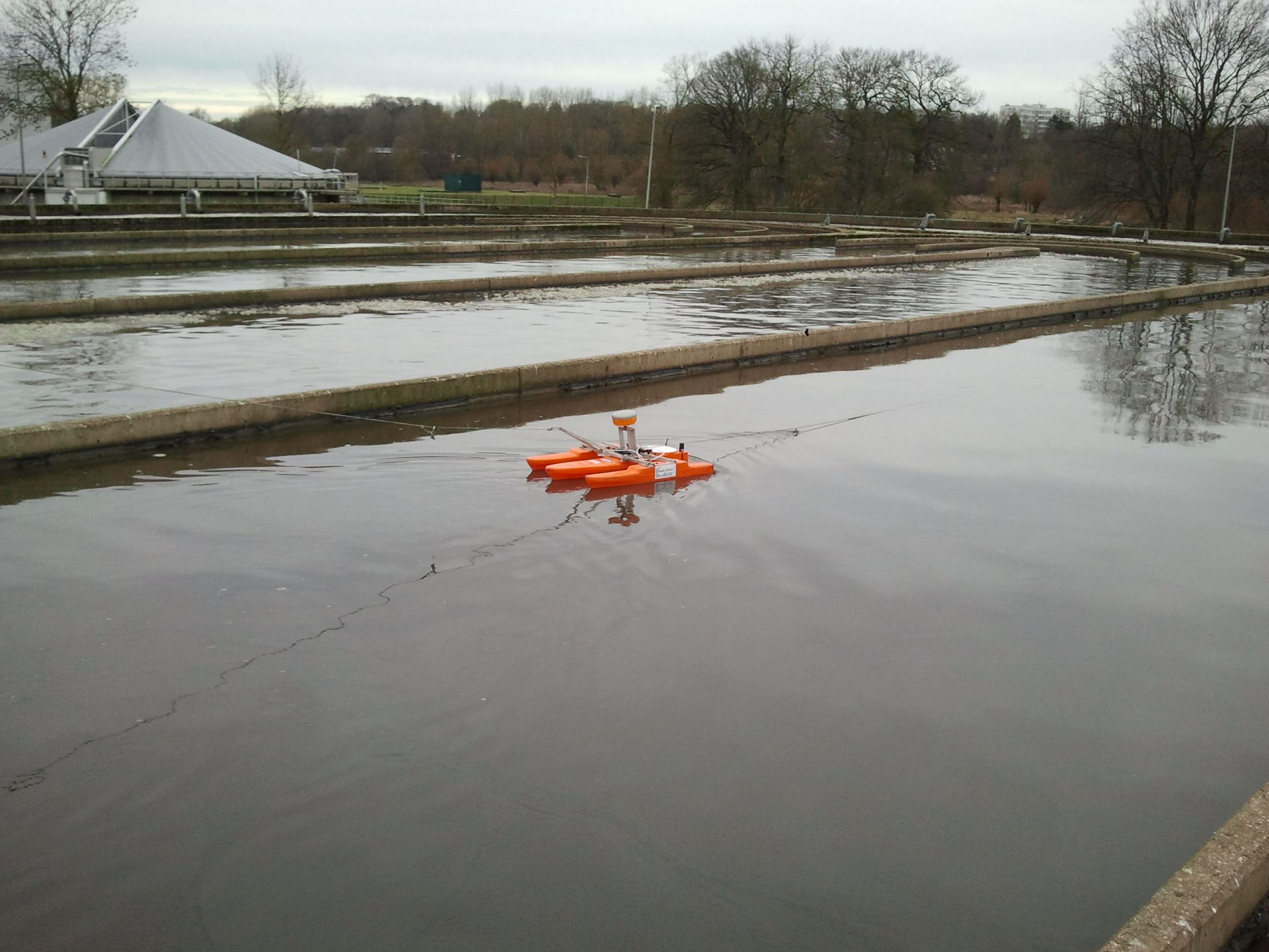 Measuring depths in Waste Water Treatment Plants in Limburg